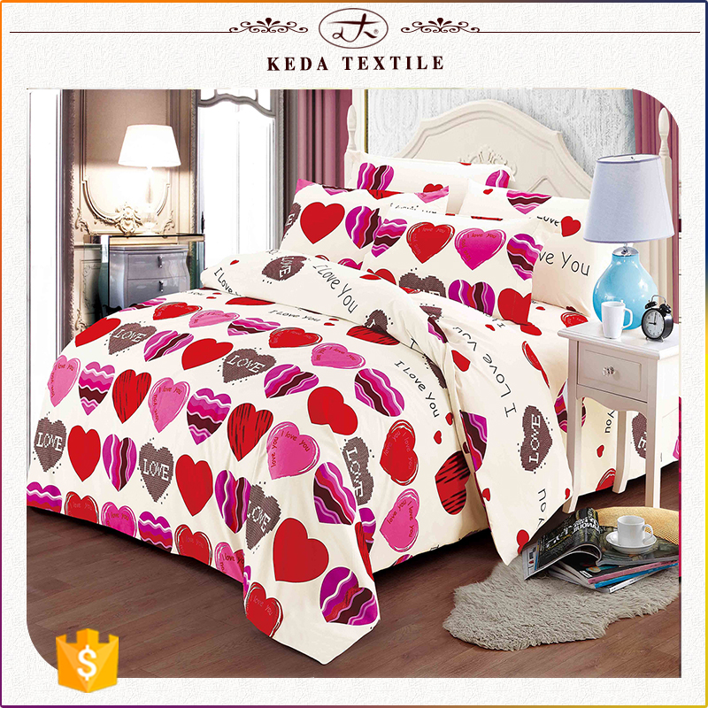 China textile wholesale cheap price 4pcs king size sheet set 100% polyester disperse printed bed set