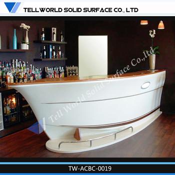 Barco Forma TW Superfície Sólida Balcão De Bar/home Design De Balcão De Bar/