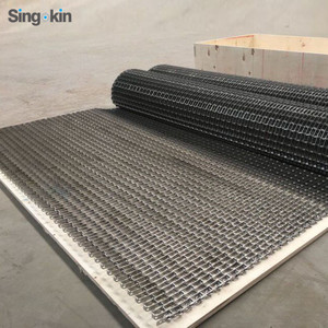 304 Stainless steel plate / honeycomb mesh conveyor belt