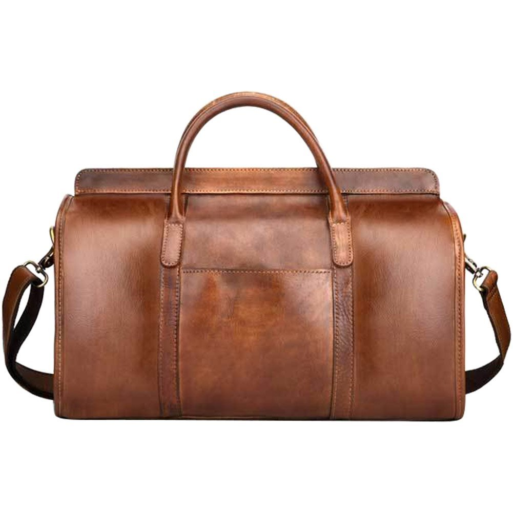 21187a856208e4 Get Quotations · Vintage Leather Duffel Travel Gym Sports Overnight Weekend  Duffel Bag