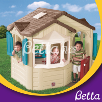 Quality-assured cheap price colorful outdoor kids plastic playhouse