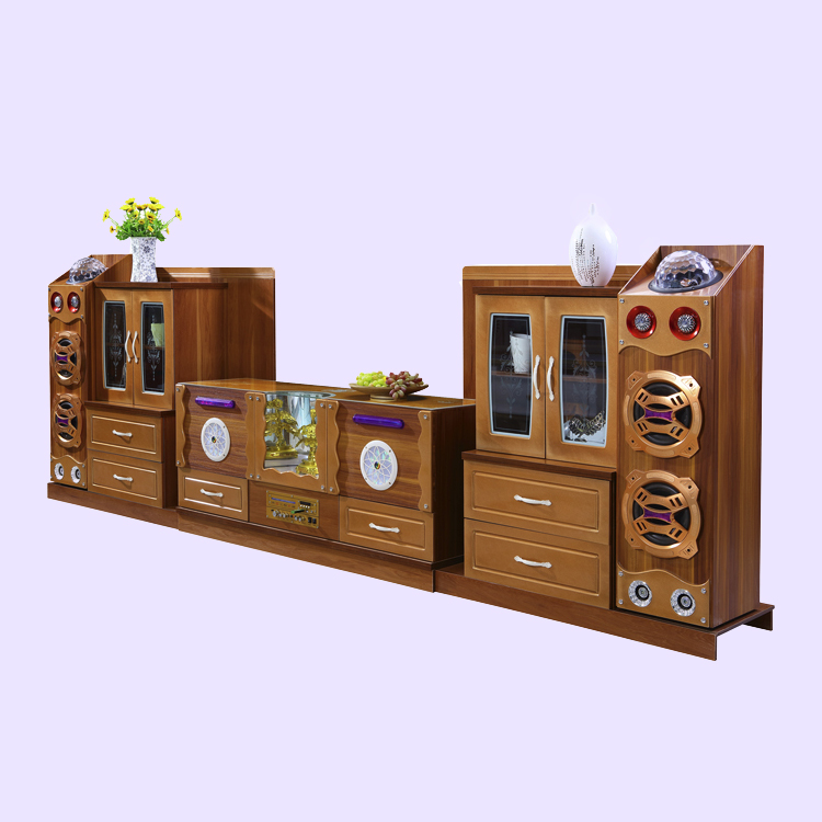 Smart Bluetooth wireless connection tv lcd wooden cabinet designs