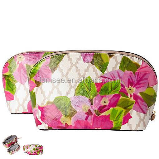 new york cosmetic case PU leather cosmetic bag makeup young girl toiletry bag in stock