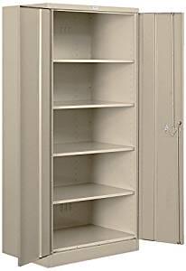 Salsbury Industries Standard Heavy Duty Storage Cabinet, 78-Inch by 24-Inch, Tan