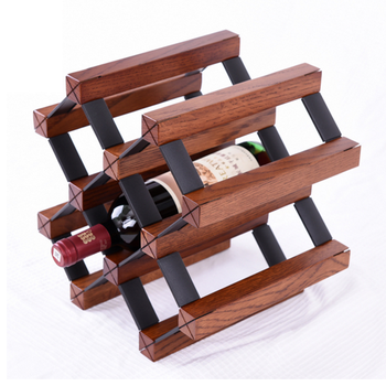 6 Bottle Decorative Wood Wine Rackred Wine Bottle Wooden Wine Shelf