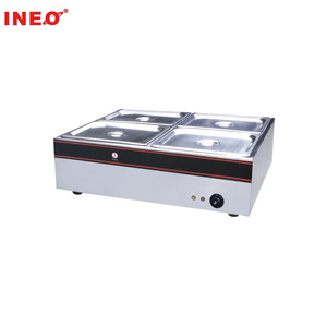 Table Top 4 Pans Stainless Steel Electric Bain Marie