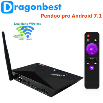 hot style Pendoo Pro RK3328 2g 16g apk download android tv box with Long Servi Life Android 7.1 Set Top Box