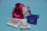 Wholesale Customized Small Personalized Drawstring Jewelry Satin Bag