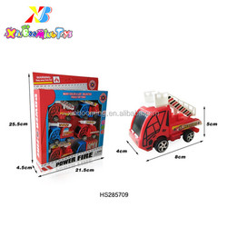 Promotion Toys Plastic Pull Back Fire Fighting Truck Toys