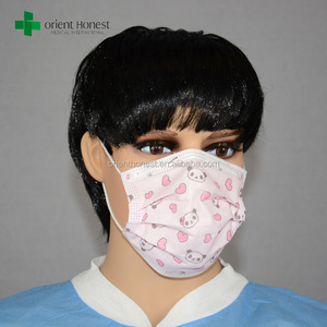 Disposable medical cartoon printing face mask manufacturer