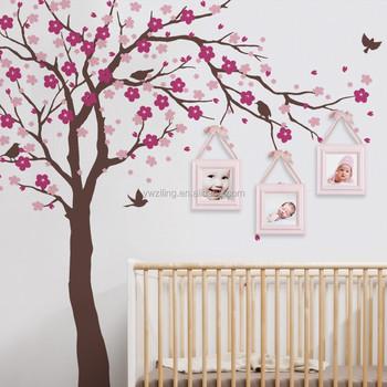 ya320 cherry blossom tree wall decals baby room nursery large tree