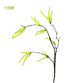 Top Quality Foam Plastic Yellow Natural Touch Faux Birch Branch