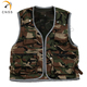 CSV-076 Camouflage camo pattern fashion cool sports reflective safety vest of Zipper with Adjustable snap buckles