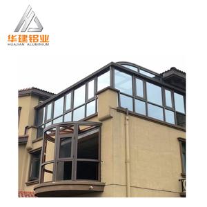 China Design Aluminium Alloy Extrusion Frame Profile For Portable Outdoor Glass Garden Sunroom House