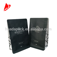 square bottom side gusset aluminium foil kraft paper 250g 1kg coffee bag coffee packaging bag with valve
