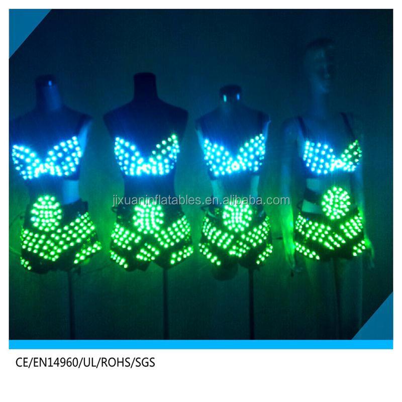 Soutien gorge led led culotte led lumineux lingerie for Plafond lumineux fibre optique