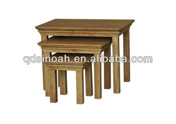 Wooden Oak Nesting Table/VT30