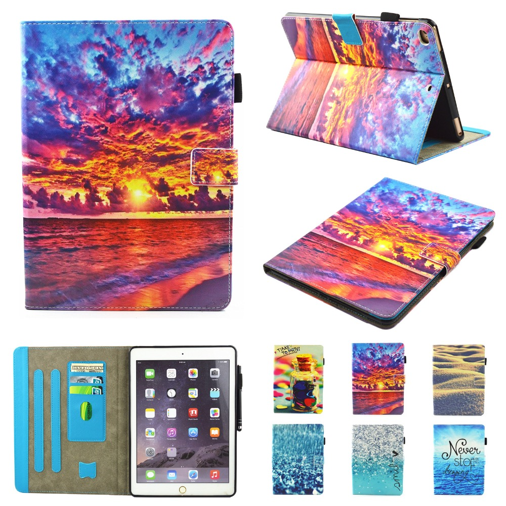 2018 Colorful Drawing PU Leather Case for <strong>iPad</strong> Pro 10.5 Muilifunction Tablet PC Stand Holder Cover for Mini 4