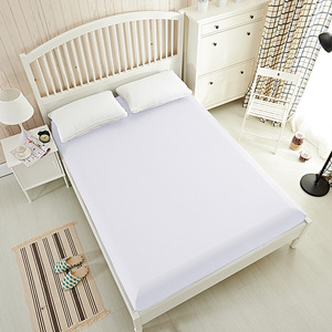 High quality plain white wholesale hotel flat sheets cotton
