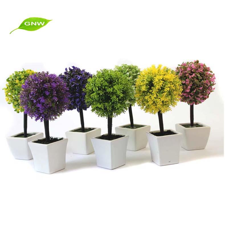 Gnw gp020 centros de mesa decorativas bonsai pl stico hoja for Plantas decorativas de plastico