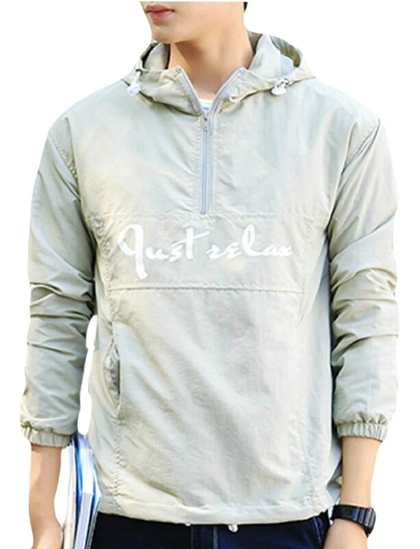 1aac13df7 Get Quotations · Yayu Mens Lightweight Outdoor Jacket Pullover Windbreaker  Hoodie Jacket