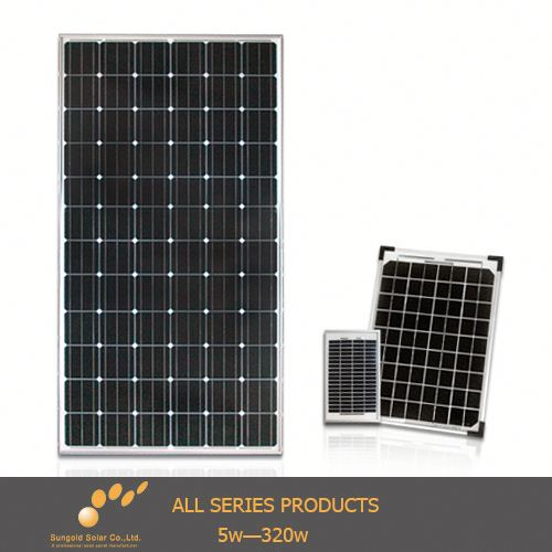 (2014 China OEM)sanyo solar panel prices from sungold manufacturers