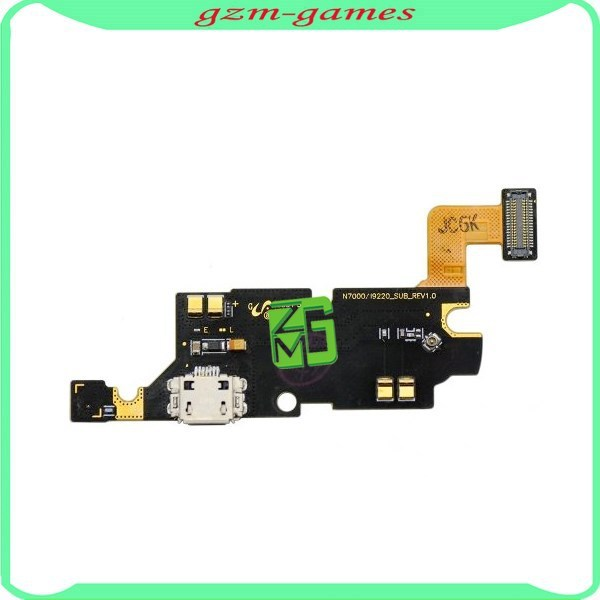 Brand new USB Charger Port/dock Microphone/Mic Charging Port Connector Flex Cable for Samsung Galaxy note 1 n7000