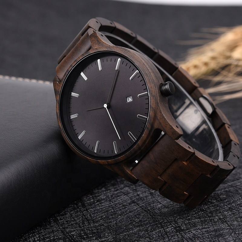 DODO DEER Ebony Wooden Watches OEM Products Wood Fashion Watch for Men relojes de china