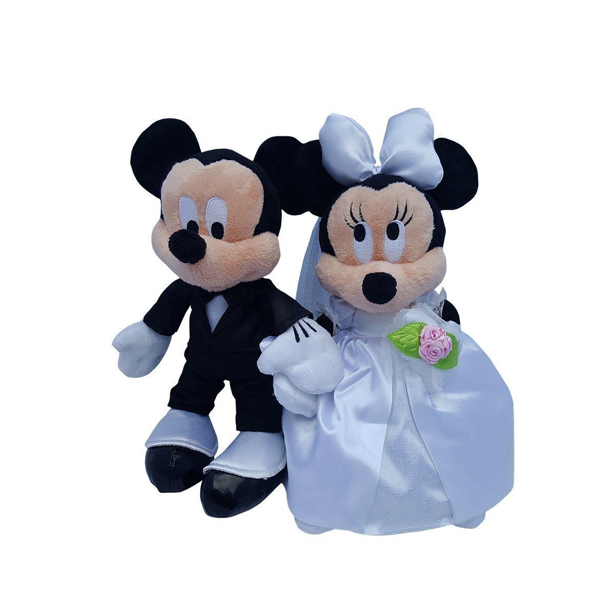 Disney Mickey Minnie Mouse Plush Wedding Set 9 Bride Groom In Price On M Alibaba