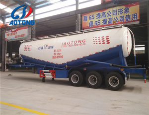 New condition cement powder tanker transport, bulk trailer transportation of fly ash