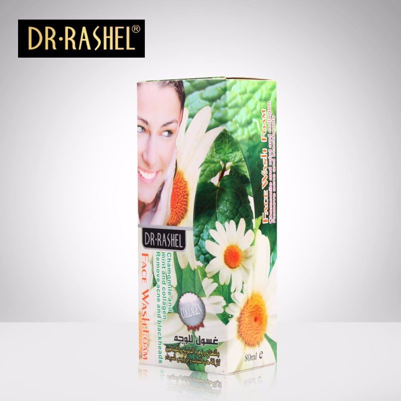 DR.RASHEL 80ml Chamomile Collagen whitening Remove Acne Blackhead Facial Wash Foam Face Cleanser
