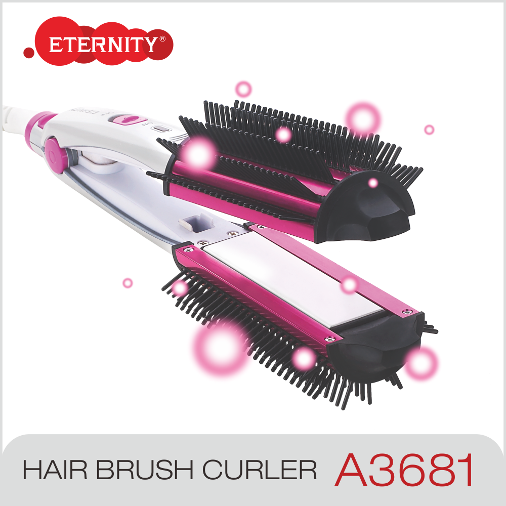 Top Sale 360 Negative ion Hair Straightener with Brush,ceramic hair straightener,Steam Hair Straighter