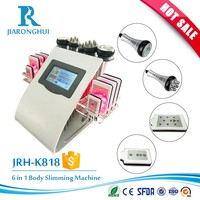 6 in 1 multifunciton laser 40K cavitation vacuum massage rf radio frequency mesotherapy skin care fat removal beauty machine