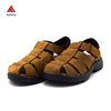 Size 39-46 Autumn Full Toe Comfortable Brown Full Grain Genuine Leather Men Sandals