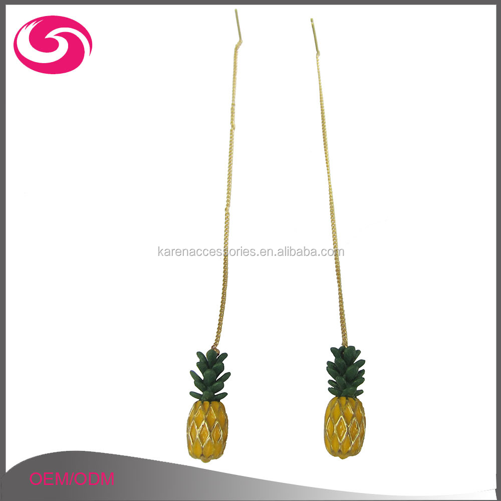 in supplies pair laser accessories fruit shape cut item pineapple solid jewelry earrings wood stud on from x