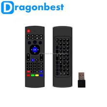 Venta caliente mx3 air mouse para android tv box 2.4 ghz wireless air mouse teclado