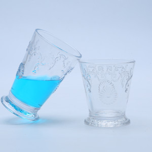Hand Made Embossed Unique Glass Tumbler,Water Glass Cup
