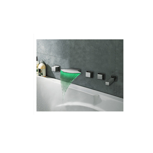 Color Changing LED bathtub faucet Tub Faucet with Hand Shower