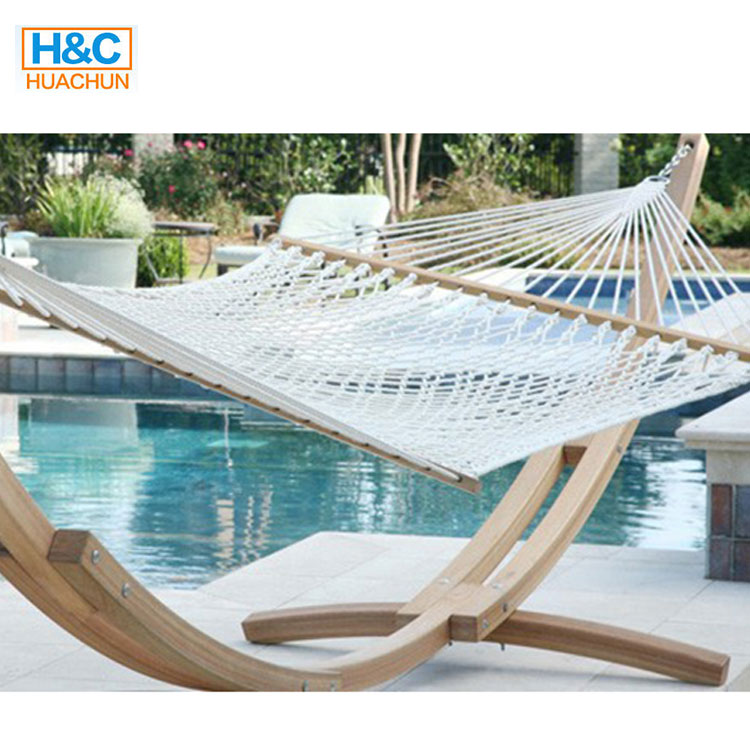 Rope hammock with stand