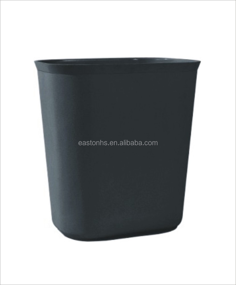 Hotel bathroom open top black double plastic waste bin