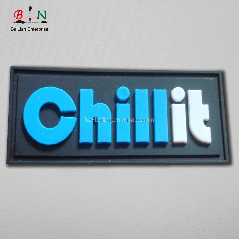 Custom clothing rubber / silicon heat transfer label