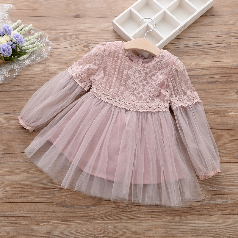 kids Autumn winter dress baby girl winter dresses long sleeve