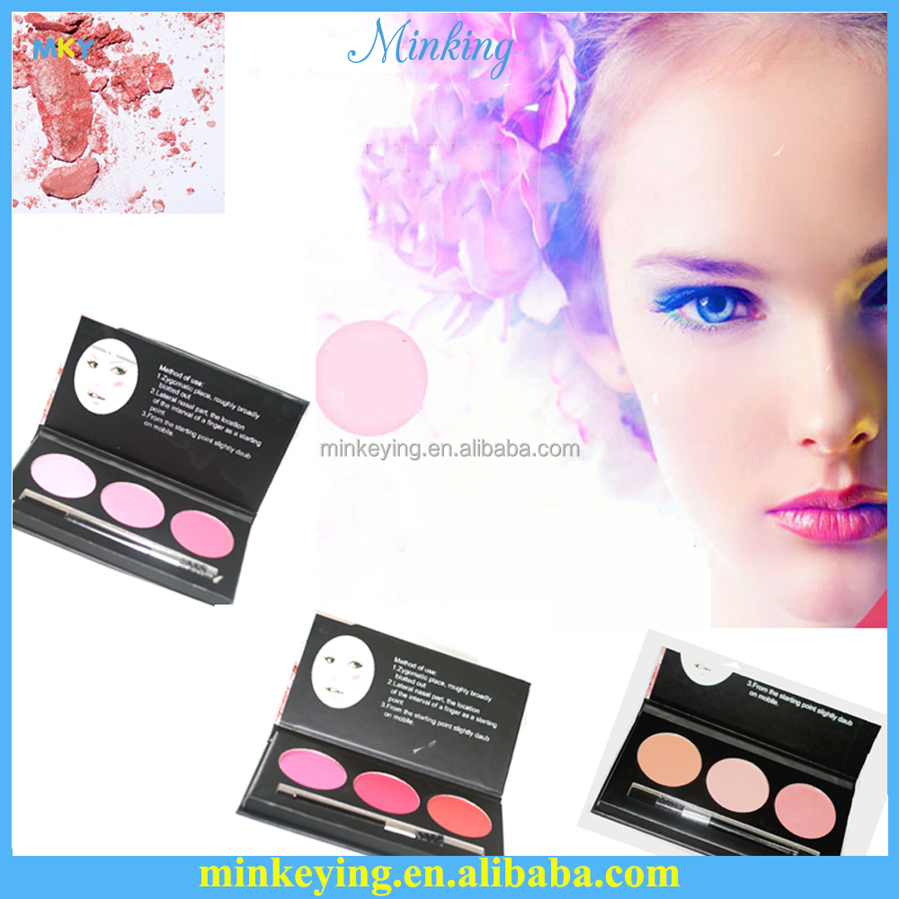 MISS DOOZY New best selling blush products 3 color cosmetic Blush Paper Box Make Up packaging boxes