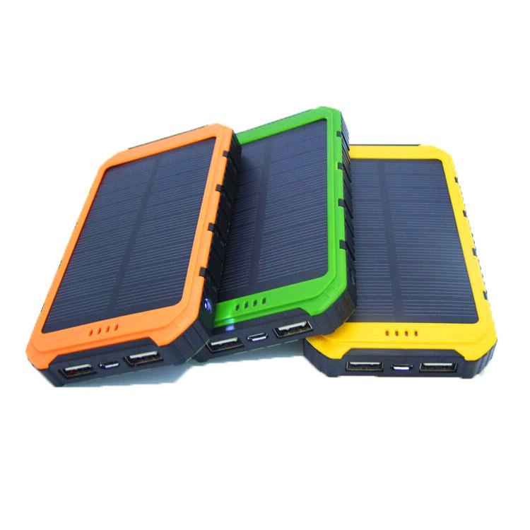 Tren Produk Kapasitas Tinggi Lampu LED Universal Portable Solar Power Bank 10000 MAh