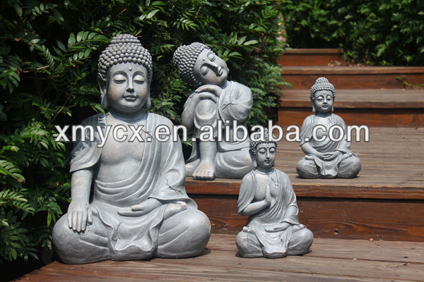 Alfresco home seated buddha garden statue