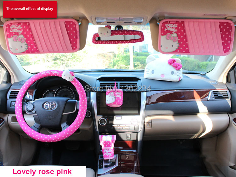 Irror accessories car covers rearview mirror set 2015 hot - Hello kitty car interior accessories ...
