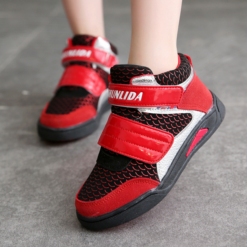 Spring Brand Children Sport Shoes Girls High-top Sneakers Fashion Breathable Boys Sneakers Kids Shoes Boys Casual Running shoes