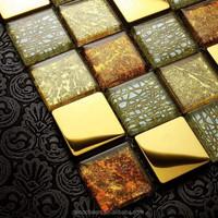 Metal Mix Glass Mosaic/Gold Foil Mosaic/Wall Tile