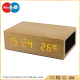 2017 China factory Newest wholesale wooden bluetooth speaker with Led light, NFC, thermometer, alarm function