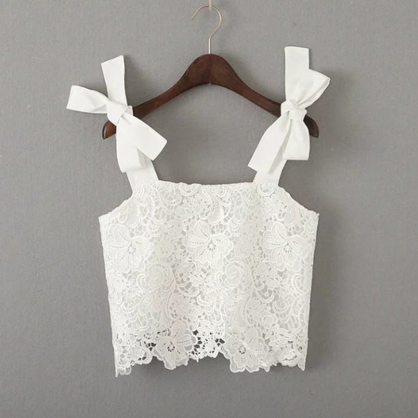 MS68964W fancy lace design women new arrival girls cool summer tops
